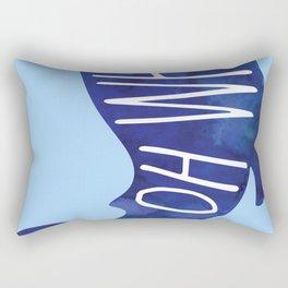 Oh Whale! Funny Pun Design Rectangular Pillow