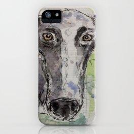Greyhound portrait. iPhone Case