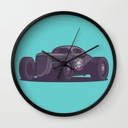 GAZ GL1 Custom Vintage Hot Rod Classic Street Racer Car - Aqua Wall Clock
