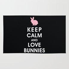 Keep Calm and Love Bunnies Rug