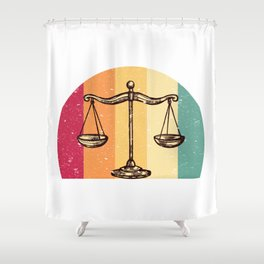 Scales Of Justice Lawyer Retro Gift Idea Shower Curtain
