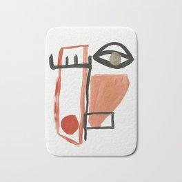 Abstract Face Bath Mat