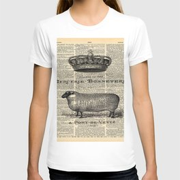 french dictionary print jubilee crown western country farm animal sheep T-shirt