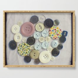 Buttons Serving Tray