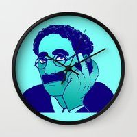 marx Wall Clocks featuring Groucho by Kramcox
