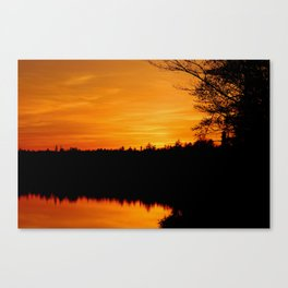 Sunset on Lake Hebron, Monson Maine Canvas Print