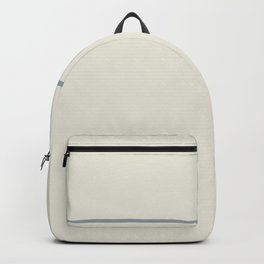 One Stripe Sand and Grey Backpack