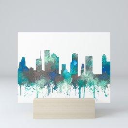 Houston, Texas Skyline - SG Jungle Mini Art Print