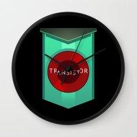 transistor Wall Clocks featuring Transistor by Spiritius