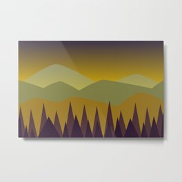 Dusk | Stylized Digital Landscape Metal Print