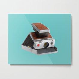 Retro Polaroid SX-70 Camera Polygon Art Metal Print