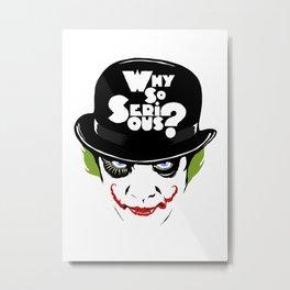 Why So Serious Graffiti Edit Metal Print