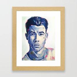 Nick Jonas Framed Art Print