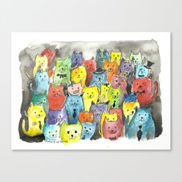 Fancy Kats Canvas Print