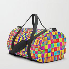 Rainbow Mosaic Pixels Duffle Bag