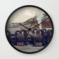 iceland Wall Clocks featuring Iceland by very giorgious