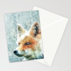 abstract fox Stationery Cards