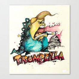 Trumpzilla Canvas Print