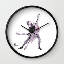 Natalia Osipova and Matthew Ball in Romeo and Juliet Wall Clock