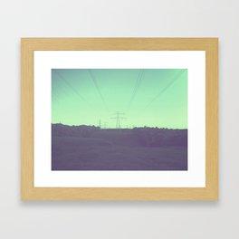 GREENISH HILLS Framed Art Print