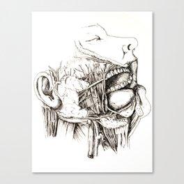 Anatomy: Study 1 Salivating Zombie Canvas Print