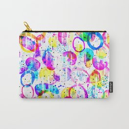 Sweet As Candy - colorful watercolor pattern by Lo Lah Studio Carry-All Pouch