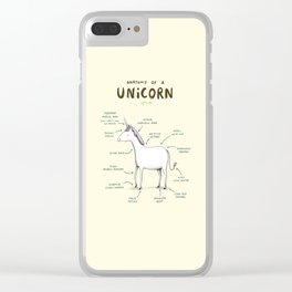 Anatomy of a Unicorn Clear iPhone Case