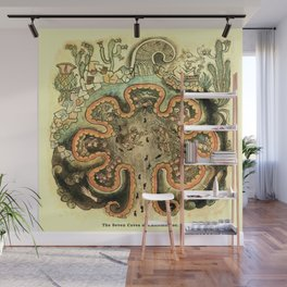 Aztec Collection: The Seven Caves of Chicomoztoc Wall Mural