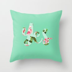 Yes - floral typography Throw Pillow