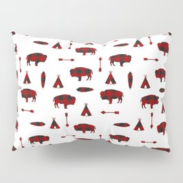 Buffalo Tribe // Red Check Pillow Sham