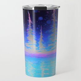 Vibrant trees in Alcohol ink Travel Mug