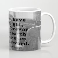 da vinci Mugs featuring Flight Da Vinci by KimberosePhotography