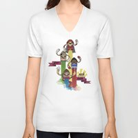 street fighter V-neck T-shirts featuring Street Fighter 25th Anniversary!!! by Ed Warner
