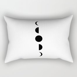 MOON VIBES - Phases of the moon in black & white Rectangular Pillow
