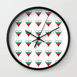 flag of bulgaria 3 -bulgarian, България,български,slav,cyrillic,Sofia,bulgaria Wall Clock