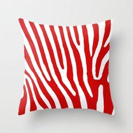 Red Zebra Throw Pillow