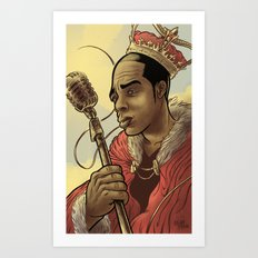 Proclaimed King of Rap Art Print