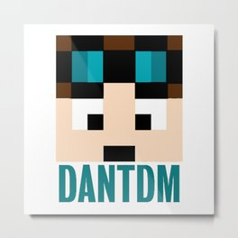 DANTDM Graphic Crystal Metal Print