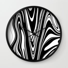 Stripes, distorted 2 Wall Clock