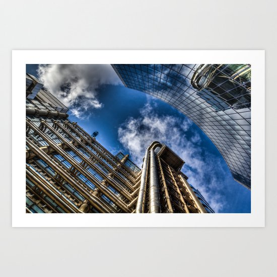 Lloyds of London and Willis Group Buildings Art Print