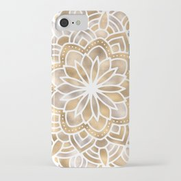 Mandala Multi Metallic in Gold Silver Bronze Copper iPhone Case