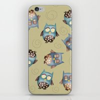 owls iPhone & iPod Skins featuring Owls by Catru