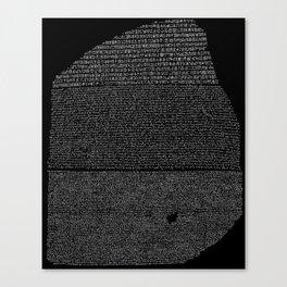 Pierre de Rosette  / Rosetta Stone Canvas Print