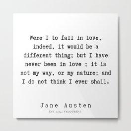 97    | Jane Austen Quotes | 190722 Metal Print