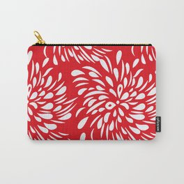 DAHLIA RED AND WHITE PATTERN Carry-All Pouch