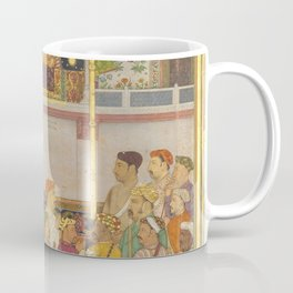 Indian Masterpiece: Jahangir Receives Prince Khurram at Ajmer on His Return from the Mewar Campaign by Balchand  Coffee Mug