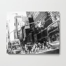 On the Street in NYC Metal Print
