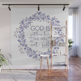Christian Bible Verse Quote - Psalm 46-5 Wall Mural