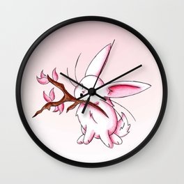 Bunny Blossoms Wall Clock