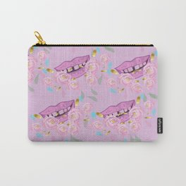 Floral Smile Carry-All Pouch